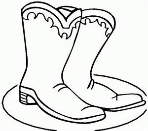Cowboy Boots Coloring Pages - Coloring Home