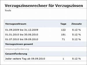 Verzugszinsen Berechnen : verzugszinsenrechner kostenlos auf firmenpresse ~ Themetempest.com Abrechnung