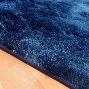 Tapis Bleu Petrole : tapis bleu shaggy par inspiration luxe editions ~ Melissatoandfro.com Idées de Décoration