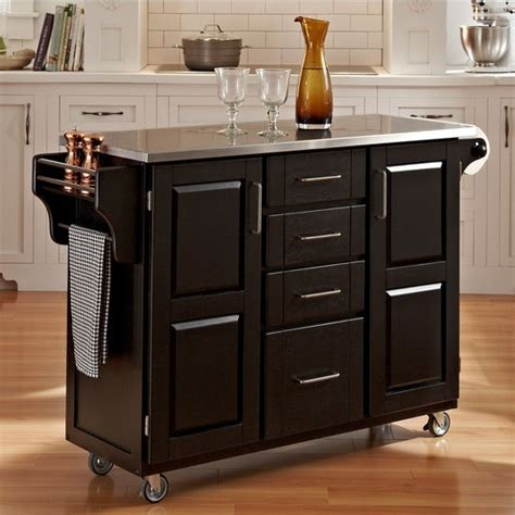 mix and match kitchen cart cabinet w black paint and