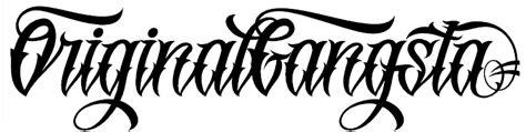 Original Gangsta  Free Fonts Pinterest