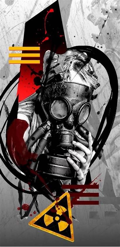 Trash Polka Zedge Mask Gas Graffiti Nuclear
