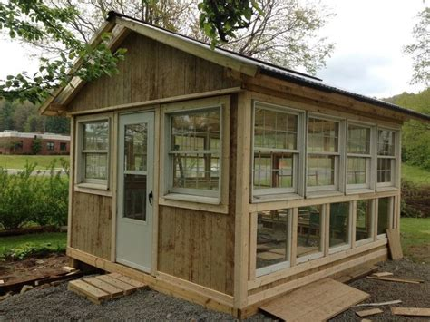 Consider putting the finished photo first, however this is not a requirement. Building a Greenhouse From Old Windows | Hometalk