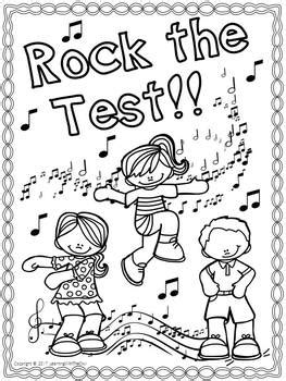 test motivation coloring pages freebie  learning