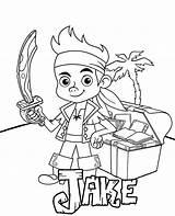 Pirate Coloring Jake Disney Children Books sketch template