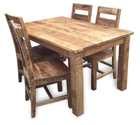 rustic dining table 4 chairs