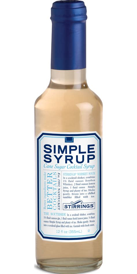 simple syrup bar ingredients products stirrings all