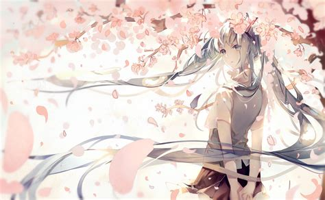 Anime Flower Wallpaper - vocaloid wallpaper and background image 1460x900 id 580873