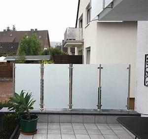 Milchglas Für Balkon : himmlisch sch n windfang und sichtschutz aus edelstahl und ~ Markanthonyermac.com Haus und Dekorationen