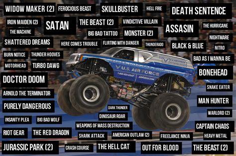 monster truck names from monster jam event horse names part 4 monster truck edition