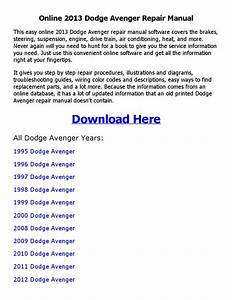 2013 Dodge Avenger Repair Manual Online By Sujith