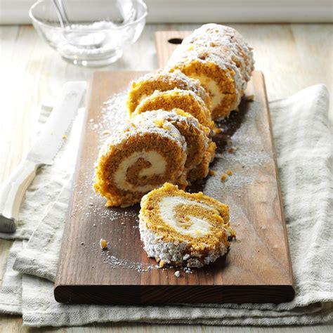 pumpkin cake roll walnut pumpkin cake roll recipe taste of home