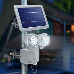 Spot Solaire Extérieur : projecteur solaire dtection de mouvement duo power ii ~ Melissatoandfro.com Idées de Décoration