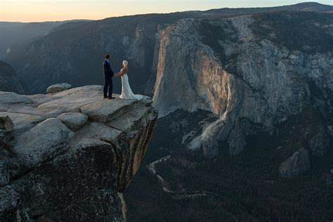 Yosemite Taft Point Elopement Photography Kristina And