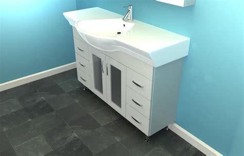 eurofit 47 white narrow bathroom sink cabinet vanity on
