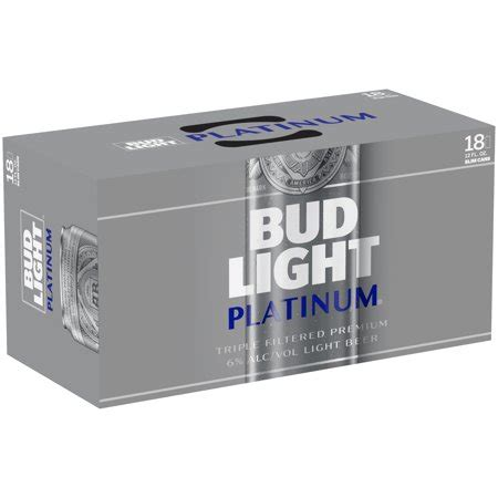 18 Pack Bud Light by Bud Light Platinum 174 18 Pack 12 Fl Oz Cans