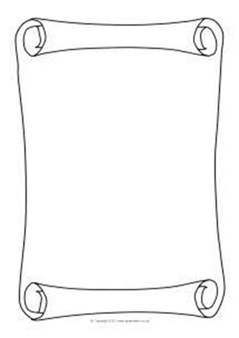 blank scroll template  printable activity blank