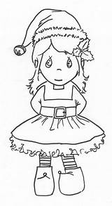 Coloring Elf Pages Christmas Elves Popular sketch template
