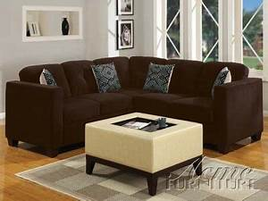 Dark brown ultra plush fabric sectional sofa w optional for Taylor sectional sofa and ottoman dark brown