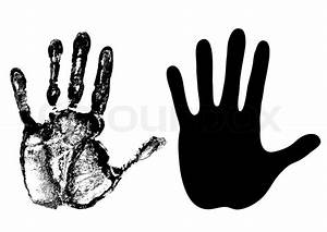 Hand - open palm - vector   Stock Vector   Colourbox