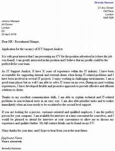 ICT Support yst Cover Letter Example  icover org uk
