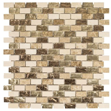 Jeffrey Court Mosaic Tile by Jeffrey Court Molten 12 In X 12 In X 8 Mm Glass Marble