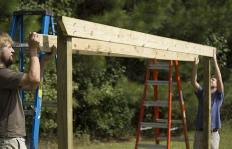 4x4 Hammock Stand by How To Build A Diy Pergola Hammock Stand For 200