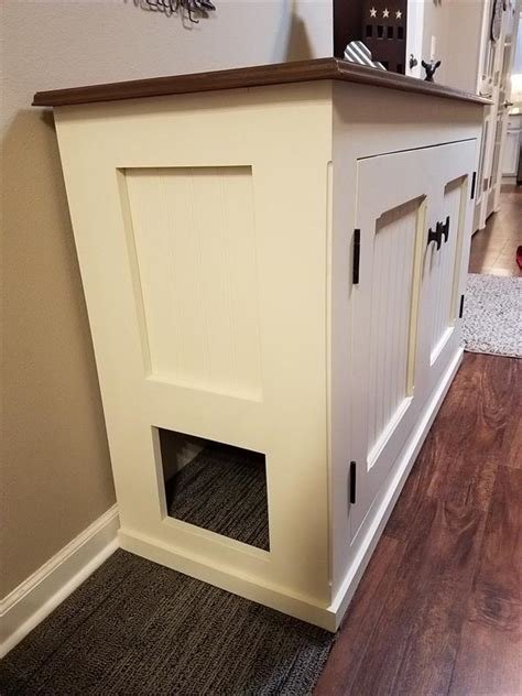 Cabinet Litter Box by Cat Litter Box Cabinet Buildsomething