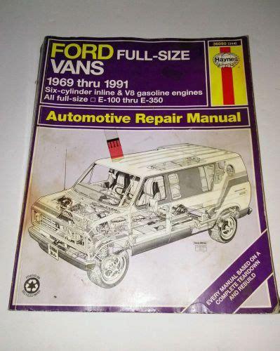 buy repair manual    ford full size vans haynes