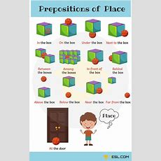 Learn Prepositions Of Position And Place With Pictures  Tulostettavat  Pinterest Learn