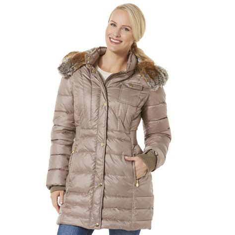 Women's Hooded Puffer Jacket: Shop Outerwear at Sears