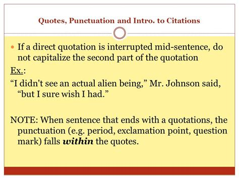 The Comma Quotes, Punctuation, And Intro To Citations