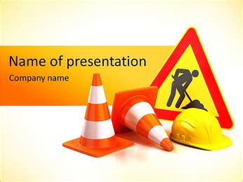 safety sign powerpoint template backgrounds id