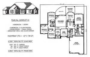 4 bedroom one story house plans 4 bedroom 1 story 2300 square