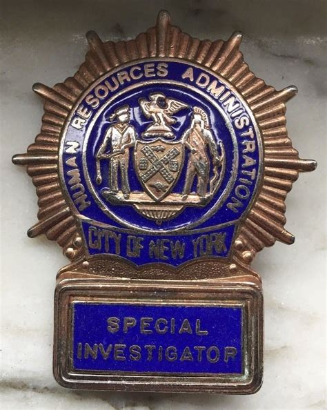 Special Investigator, New York City Human Resources ...