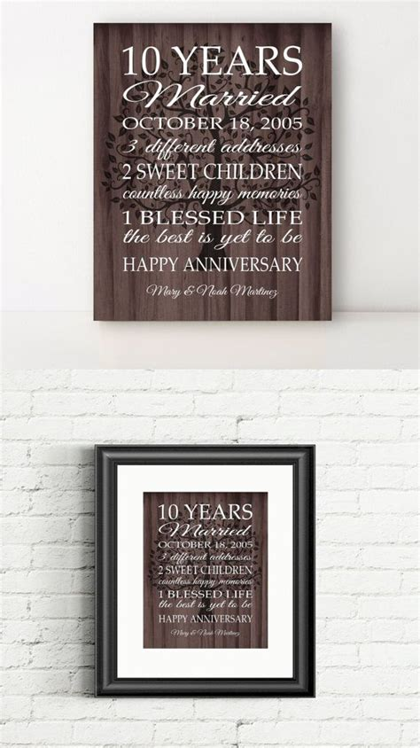 10 year anniversary gift for 1000 ideas about 10th anniversary gifts on