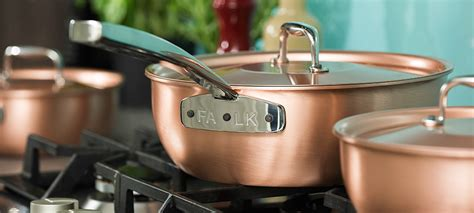 falk copper cookware signature range