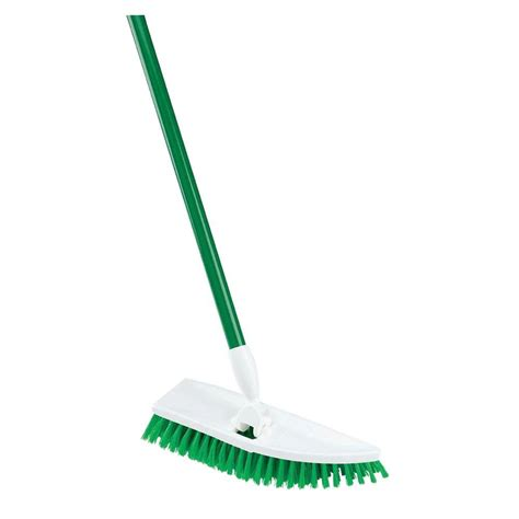 floor scrubber pads home depot libman brooms mops no knees floor scrub brush 122