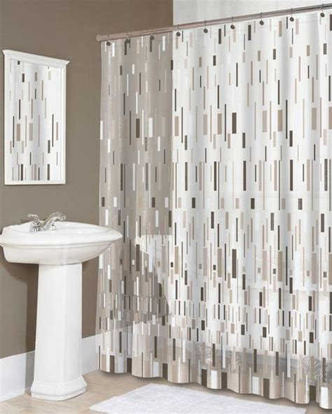 bars beige shower curtain traditional shower curtains