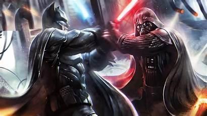 Vader Darth Batman Wars 4k Vs Dc
