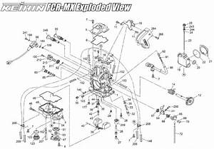 Keihin Fcr Mx Carburetor    Fcr  Diagram Part  85