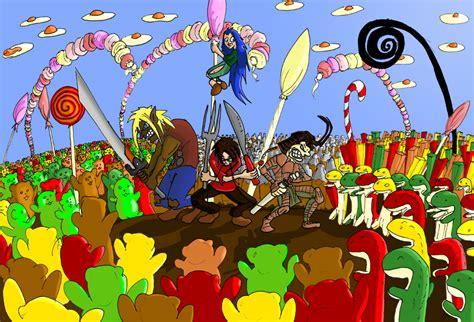 siege dessinateur haribo 39 s battle by le dessinateur fou on deviantart