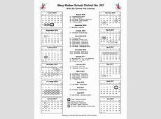 2016 2017 District Calendar Parent Partner Program