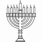 Menorah Coloring Jewish Hanukkah Pages Burning Candelabra Template Printable Templates Getcoloringpages Biblecoloringpages sketch template