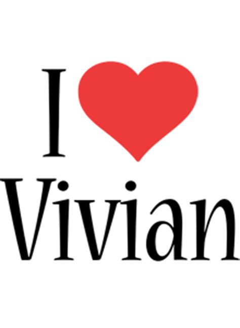 vivian logo  logo generator  love love heart
