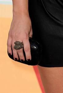 Kim Kardashian Dark Nail Polish - Kim Kardashian Looks - StyleBistro