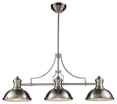 three light nickel pool table light modern pendant