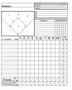printable baseball score sheets here is my system With softball scorecard template