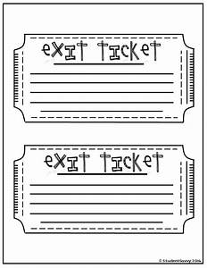 best 25 exit tickets ideas on pinterest exit slips With classroom exit ticket template