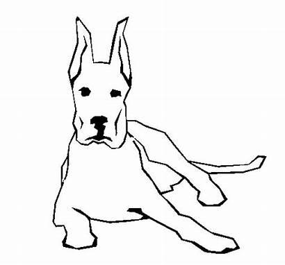 Dane Down Coloring Lying Colorear Coloringcrew Dogs